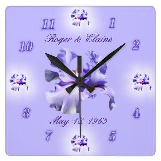 De Klok van het Jubileum van de iris past aan &