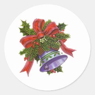 De Klok van Kerstmis Ronde Sticker