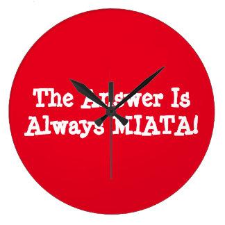 """De Klok van Miata het """"Antwoord is altijd MIATA! """""""
