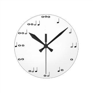 De klok van muzieknoten