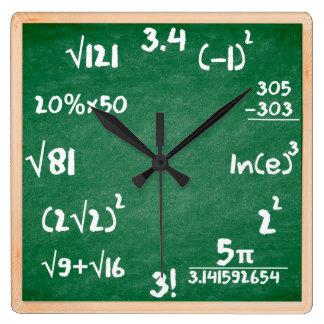 De Klok van wiskunde met Houten grens