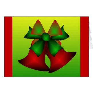 De Klokken van Kerstmis Wenskaart