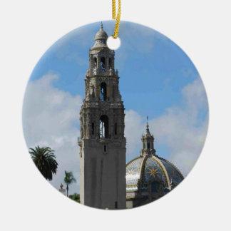 De Klokketoren van het Park van Balboa Rond Keramisch Ornament