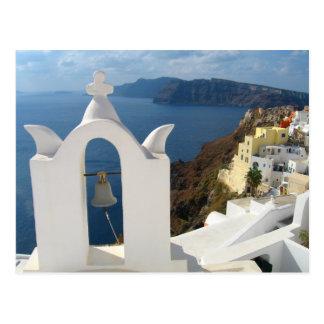 De Klokketoren van Santorini in de Zon van de Briefkaart