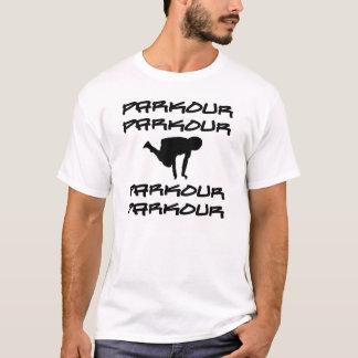 De Kluis van het Silhouet van Parkour T Shirt
