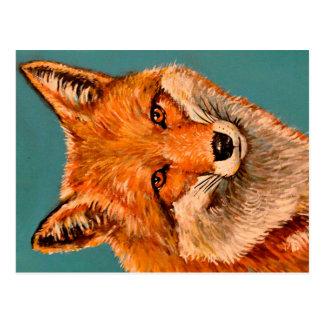De knappe vos briefkaart
