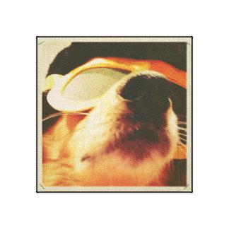 De knapste straathond die ik, met een grijns Elvis Canvas Afdrukken