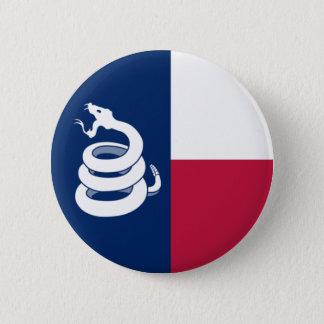 """""""De knoop betreed niet op van Texas"""" Ronde Button 5,7 Cm"""