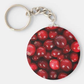 De Knoop Keychain van Amerikaanse veenbessen Basic Ronde Button Sleutelhanger