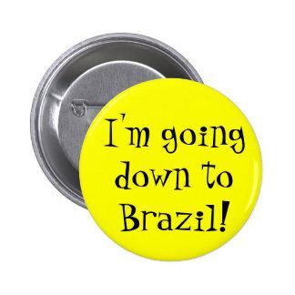 De Knoop van Brazilië Ronde Button 5,7 Cm
