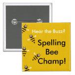 De Knoop van Champ van de Bij van de spelling Button