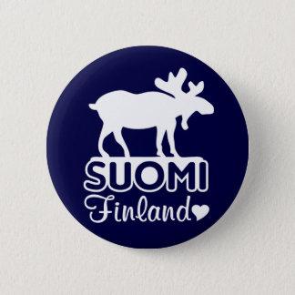 De knoop van de Amerikaanse elanden van Finland Ronde Button 5,7 Cm