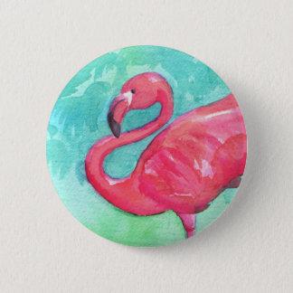 De knoop van de flamingo ronde button 5,7 cm