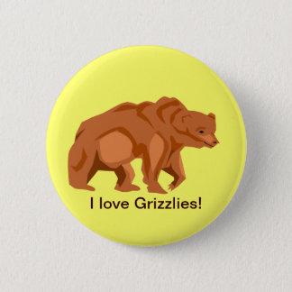 De Knoop van de grizzly Ronde Button 5,7 Cm