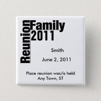 De Knoop van de Herinnering van de Bijeenkomst Vierkante Button 5,1 Cm
