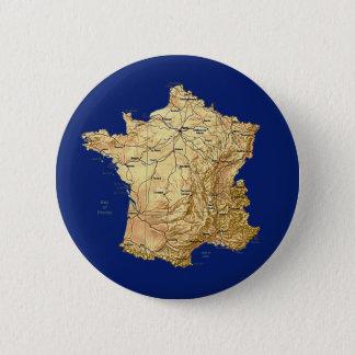 De Knoop van de Kaart van Frankrijk Ronde Button 5,7 Cm