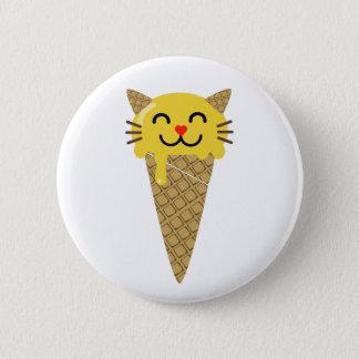De Knoop van de Kat van het Roomijs van Emoji Ronde Button 5,7 Cm