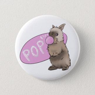 De Knoop van de Kauwgom van het konijntje Ronde Button 5,7 Cm