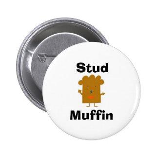 De Knoop van de Muffin van de nagel Ronde Button 5,7 Cm
