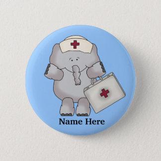 De knoop van de Olifant van de verpleegster Ronde Button 5,7 Cm
