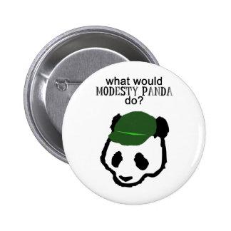 De Knoop van de Panda van de bescheidenheid Ronde Button 5,7 Cm
