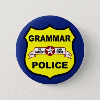 De Knoop van de Politie van de grammatica Ronde Button 5,7 Cm