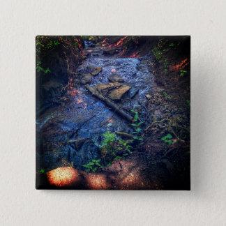 De Knoop van de rivier Vierkante Button 5,1 Cm