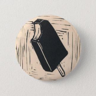 de knoop van de roomijsbar ronde button 5,7 cm