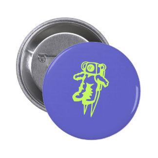 De knoop van de ruimtevaarder ronde button 5,7 cm