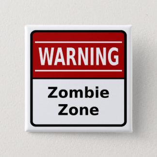 De Knoop van de Streek van de zombie Vierkante Button 5,1 Cm