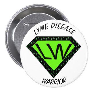 De Knoop van de Strijder van de Ziekte van Lyme Ronde Button 7,6 Cm
