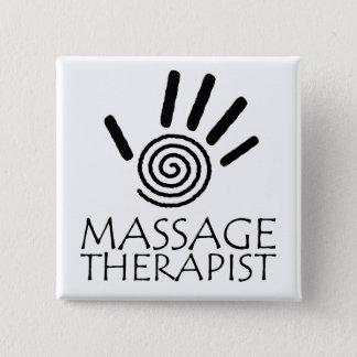 De Knoop van de Therapeut van de massage Vierkante Button 5,1 Cm