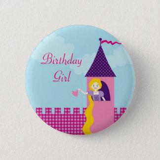 De Knoop van de Verjaardag van Rapunzel Ronde Button 5,7 Cm