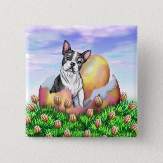 De Knoop van de Verrassing van Boston Terrier Vierkante Button 5,1 Cm