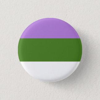 De Knoop van de Vlag van Genderqueer Ronde Button 3,2 Cm