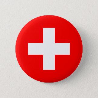 De Knoop van de Vlag van Zwitserland Ronde Button 5,7 Cm