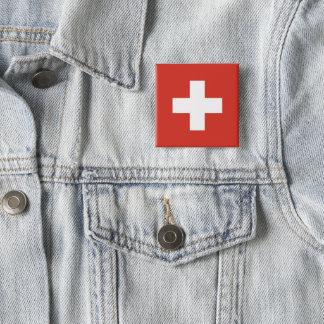 De Knoop van de Vlag van Zwitserland Vierkante Button 5,1 Cm