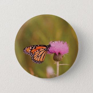 De Knoop van de Vlinder van de monarch Ronde Button 5,7 Cm