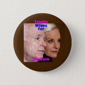 De Knoop van de Vrouwen van de Trofee van McCain Ronde Button 5,7 Cm