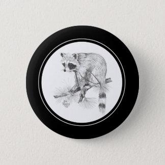 De Knoop van de wasbeer in potlood Ronde Button 5,7 Cm