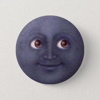 De Knoop van Emoji van de maan Ronde Button 5,7 Cm