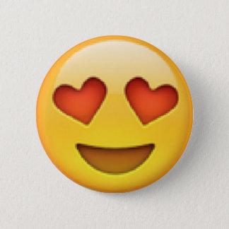De Knoop van Emoji van de Ogen van het hart Ronde Button 5,7 Cm