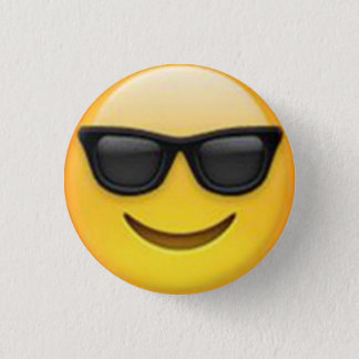De Knoop van Emoji van de zonnebril Ronde Button 3,2 Cm
