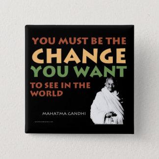 De Knoop van Gandhi Vierkante Button 5,1 Cm