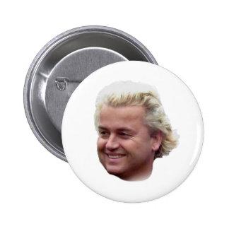 De knoop van Geert Wilders Ronde Button 5,7 Cm