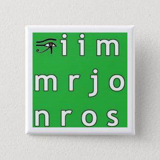 De Knoop van het Anagram van Jim Morrison Vierkante Button 5,1 Cm