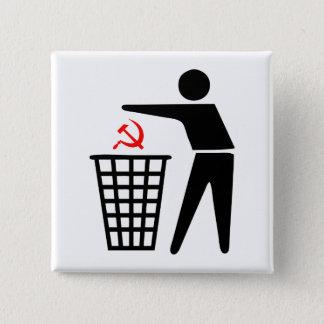 De Knoop van het Communisme van het afval Vierkante Button 5,1 Cm
