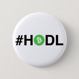 De Knoop van het Contante geld #HODL Bitcoin Ronde Button 5,7 Cm