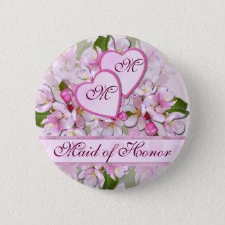 De Knoop van het Eerste bruidsmeisje van de Ronde Button 5,7 Cm