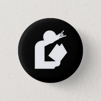 """De Knoop van het Logo van """"kaarten tegen Ronde Button 3,2 Cm"""
